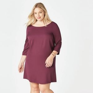 JustFab Boysenberry Shift Dress